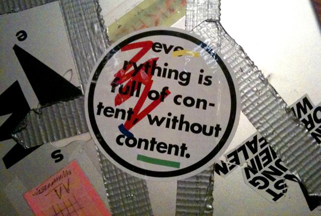 Content Content Labels -- 5 Pieces