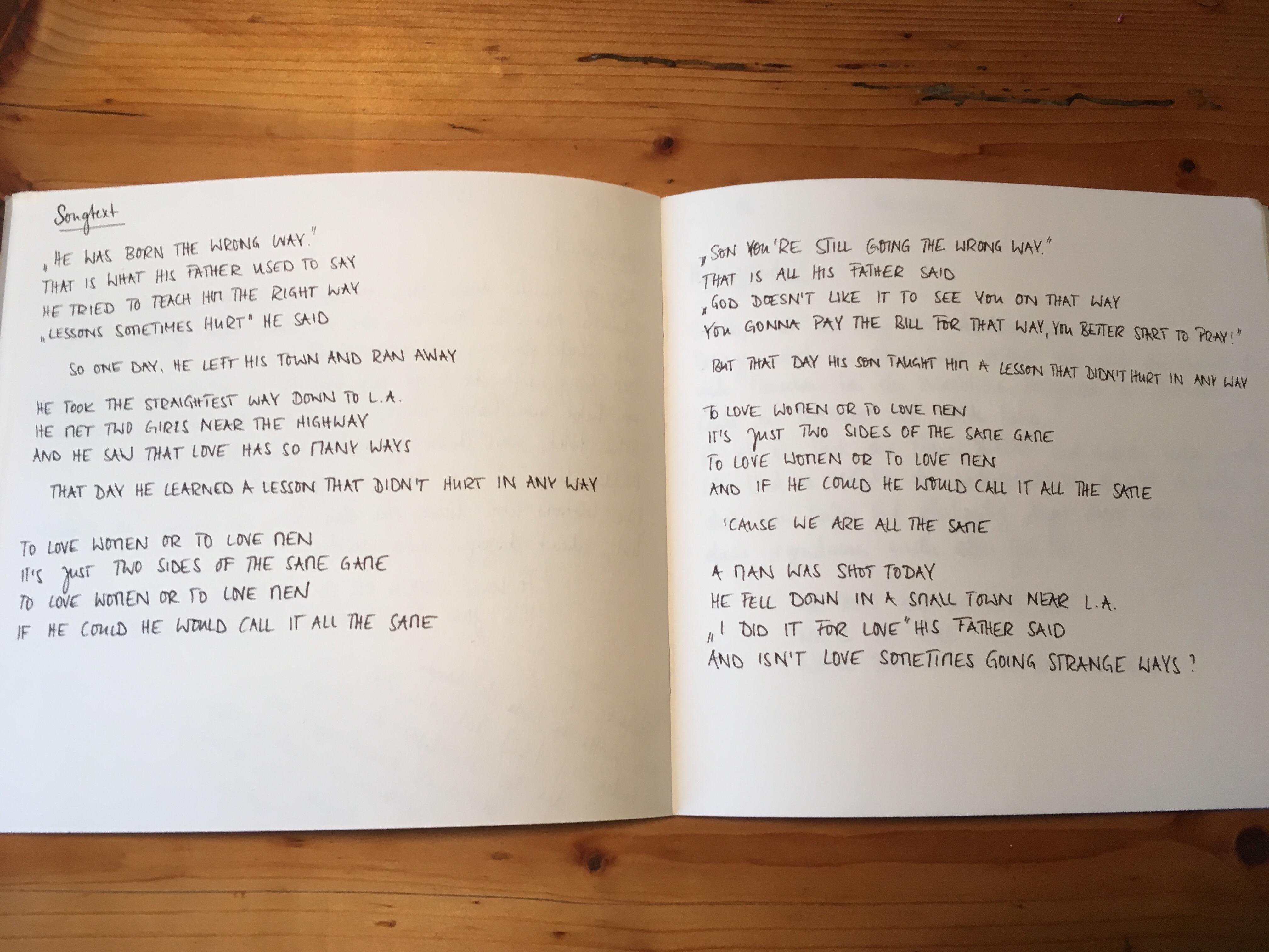 Songbook Dear Balance