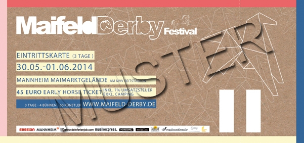 MAIFELD DERBY Early Horse Ticket  2014 (3 Tage) INKLUSIVE Camping