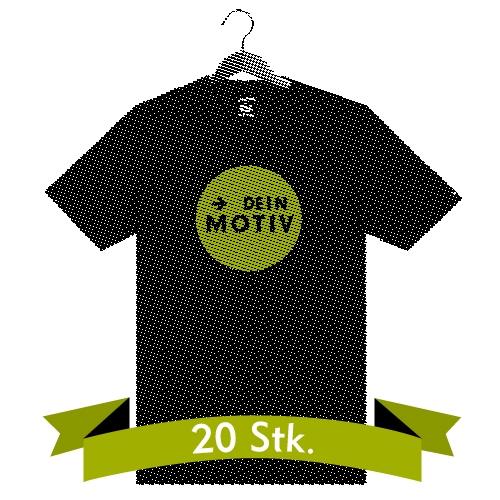2-farbiger Siebdruck auf Shirt - 20 Stk.