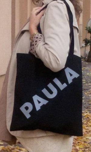 Paula – Umhängetaschen – schwarz / grau