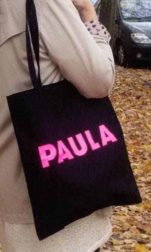 Paula – Umhängetaschen – schwarz / pink