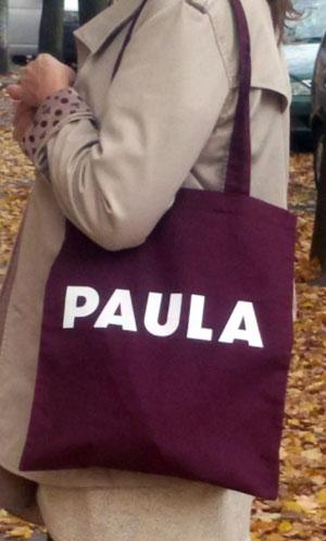 Paula – Umhängetaschen – bordeaux / weiss
