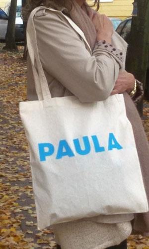 Paula – Umhängetaschen – weiss / blau
