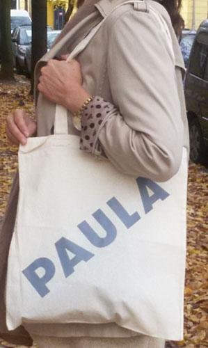 Paula – Umhängetaschen –  weiss / grau
