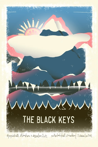 THE BLACK KEYS - Gigposter 2012