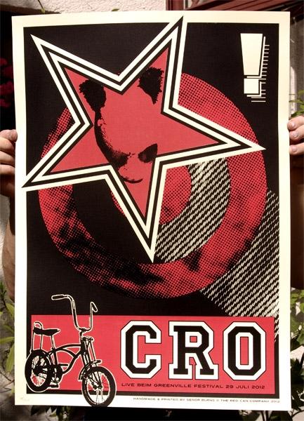 CRO - Siebdruck Gigposter