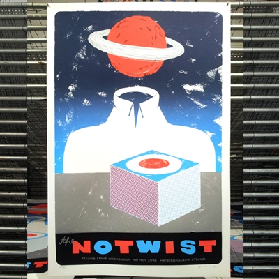 THE NOTWIST (Gigposter Rolling Stone Weekender 2016)
