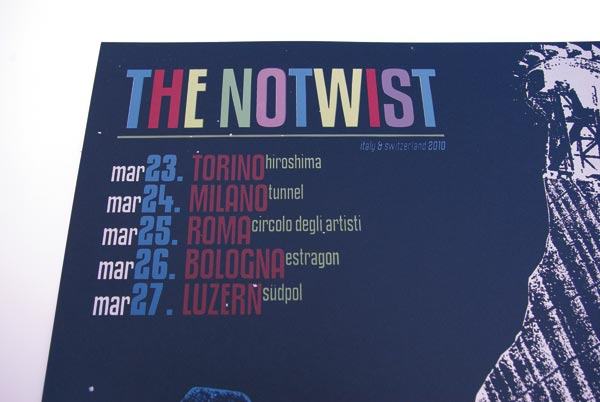 THE NOTWIST märz2010 ... plakat