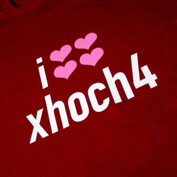 i love xhoch4 T-Shirt - Girls, Cranberry