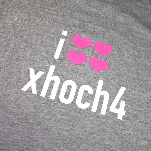 i love xhoch4 T-Shirt - Girls, Heather Grey