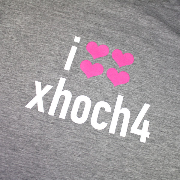 i love xhoch4 T-Shirt - Boys, Heather Grey